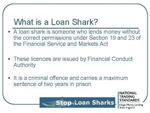 What is a Loan Shark A loan shark