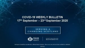 COVID19 WEEKLY BULLETIN 17 th September 23 rd