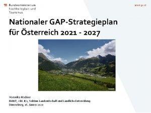 bmnt gv at Nationaler GAPStrategieplan fr sterreich 2021