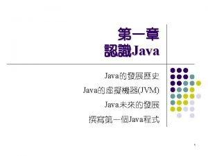1 1 Java l Java Micro Edition Enterprise