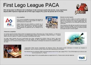 First Lego League PACA Afin de favoriser la