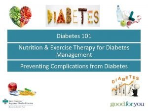 Diabetes 101 Nutrition Exercise Therapy for Diabetes Management