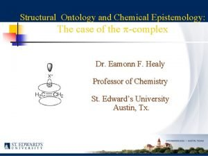 Structural Ontology and Chemical Epistemology The case of