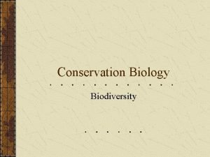 Conservation Biology Biodiversity Trophic Levels Primary Producers Primary