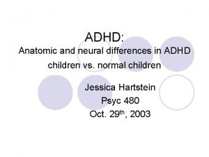 ADHD Anatomic and neural differences in ADHD children