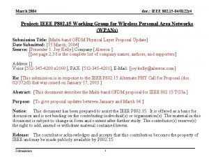 March 2004 doc IEEE 802 15 040122 r