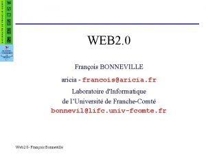 WEB 2 0 Franois BONNEVILLE aricia francoisaricia fr