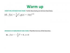 Warm up Graph Square Root and Cube Functions