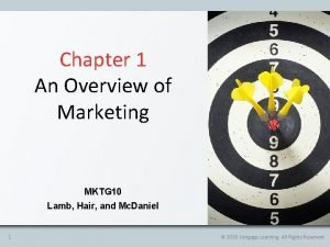 Chapter 1 An Overview of Marketing MKTG 10