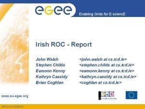 Enabling Grids for Escienc E Irish ROC Report
