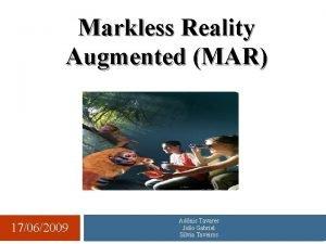 Markless Reality Augmented MAR 17062009 Adnis Tavares Joo