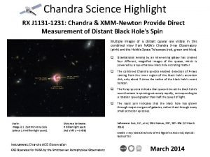 Chandra Science Highlight RX J 1131 1231 Chandra