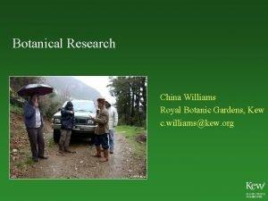 Botanical Research China Williams Royal Botanic Gardens Kew