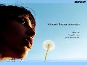 Microsoft Partner Advantage Gran Rlg Microsoft Services goranrmicrosoft