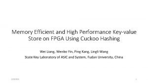 Memory Efficient and High Performance Keyvalue Store on