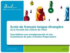 Ecole de franais langue trangre de la Facult