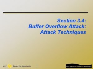 Section 3 4 Buffer Overflow Attack Attack Techniques