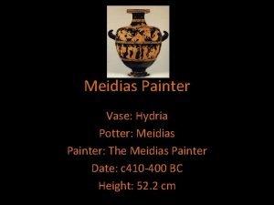 Meidias Painter Vase Hydria Potter Meidias Painter The
