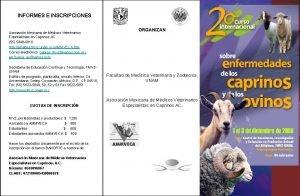 INFORMES E INSCRIPCIONES Asociacin Mexicana de Mdicos Veterinarios