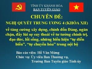 TNH Y KHNH HA BAN TUYN GIO CHUYN
