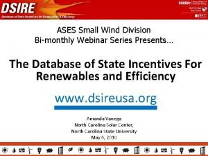 ASES Small Wind Division Bimonthly Webinar Series Presents