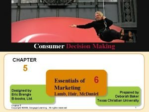 Insert Chapter Picture Here Consumer Decision Making CHAPTER