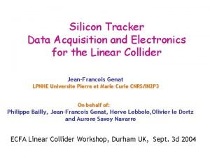 Silicon Tracker Data Acquisition and Electronics for the
