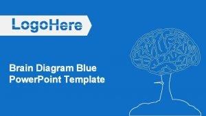 Brain Diagram Blue Power Point Template Brain Diagram