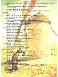 Proyecto lbum El ingenioso hidalgo Don Quijote de