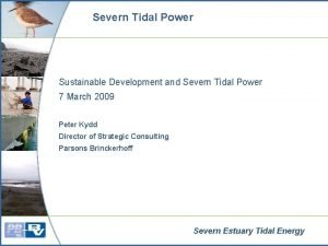 Severn Tidal Power Sustainable Development and Severn Tidal