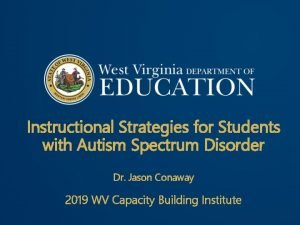 Instructional Strategies for Students with Autism Spectrum Disorder