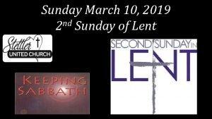 Sunday March 10 2019 nd 2 Sunday of