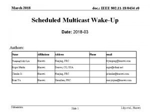 March 2018 doc IEEE 802 11 180434 r