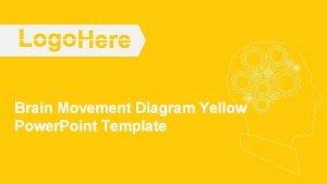 Brain Movement Diagram Yellow Power Point Template Brain
