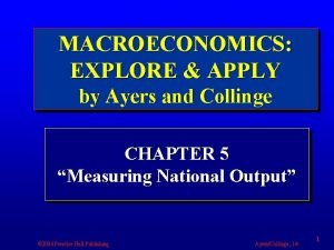 MACROECONOMICS EXPLORE APPLY by Ayers and Collinge CHAPTER