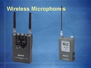 Wireless Microphones Sony Wireless Microphones Functionality HighEnd WRTWRRMB