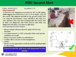 PDO Second Alert Date 30 09 2017 Incident