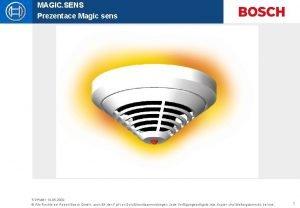 MAGIC SENS Prezentace Magic sens STPMB 1 12