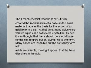 The French chemist Rouelle 1703 1770 created the