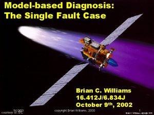 Modelbased Diagnosis The Single Fault Case Brian C