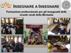 INSEGNARE A INSEGNARE Formazione professionale per gli insegnanti