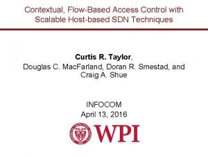 Contextual FlowBased Access Control with Scalable Hostbased SDN