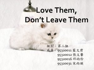 Love Them Dont Leave Them 95320011 95320012 95320016