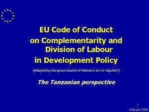 EU Code of Conduct on Complementarity and Division