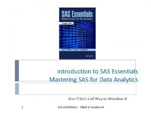 Introduction to SAS Essentials Mastering SAS for Data