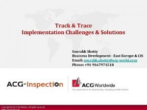 Track Trace Implementation Challenges Solutions Sourabh Shetty Business