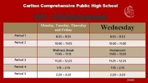 Carlton Comprehensive Public High School 2017 2018 Bell