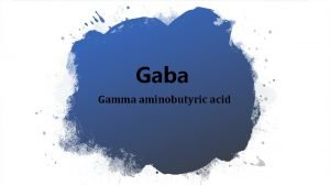 Gaba Gamma aminobutyric acid What is Gaba A