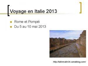 Voyage en Italie 2013 n n Rome et
