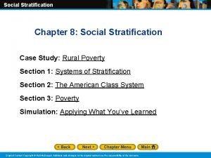 Social Stratification Chapter 8 Social Stratification Case Study